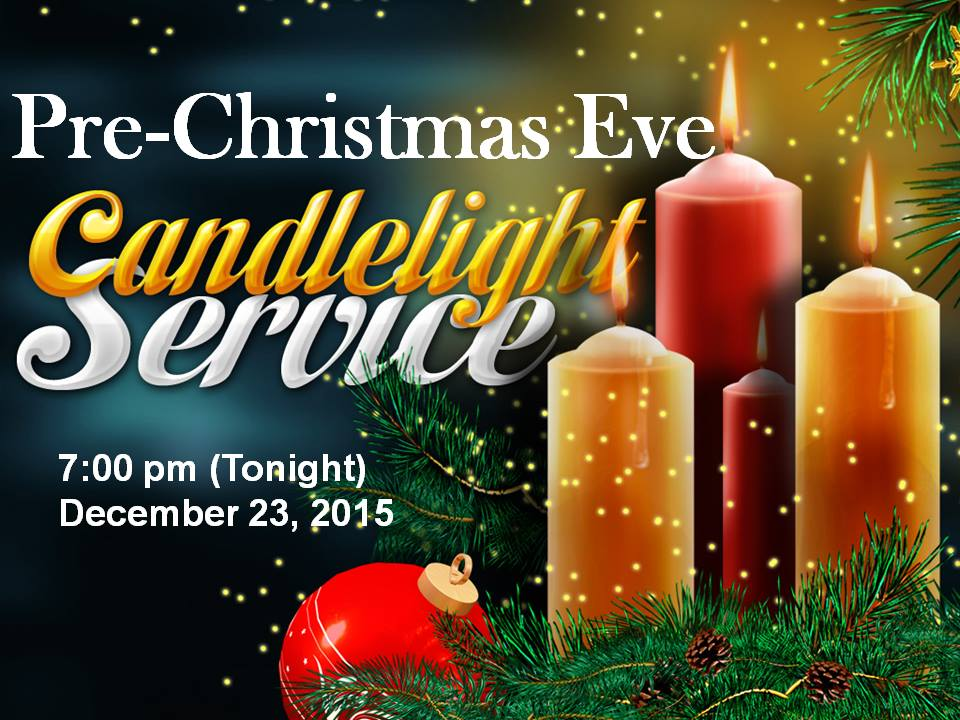 pre-christmas service